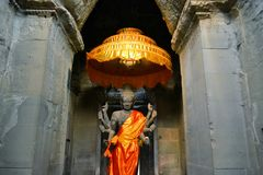Ancient Buddhist Altar, Angkor Wat, Cambodia Royalty Free Stock Photography