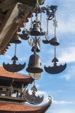 Chinese windchimes. Ancient buddhist chinese windchimes in sacred temple Royalty Free Stock Photos