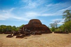 Ancient Buddhist dagoba Pabula Vihara.  Sri Lanka Stock Image