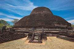 Ancient Buddhist dagoba Pabula Vihara.  Sri Lanka Stock Photo