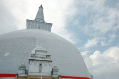 Ancient Buddhist dagoba RUWANWELISAYA ,Sri Lanka royalty free stock photography