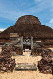 Ancient Buddhist dagoba on Sri Lanka Stock Photo