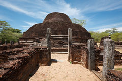 Ancient Buddhist dagoba (stupe) Royalty Free Stock Photography