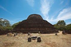 Ancient Buddhist dagoba (stupe) Pabula Vihara stock photos