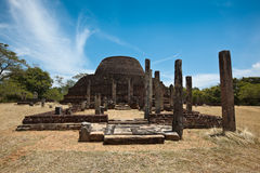 Ancient Buddhist dagoba (stupe) Pabula Vihara Royalty Free Stock Image