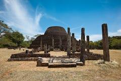 Ancient Buddhist dagoba (stupe) Pabula Vihara royalty free stock image