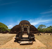 Ancient Buddhist dagoba (stupe) Pabula Vihara.  Sri Lanka Stock Photography