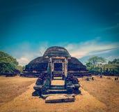 Ancient Buddhist dagoba (stupe) Pabula Vihara.  Sri Lanka Stock Image