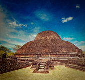 Ancient Buddhist dagoba (stupe) Pabula Vihara.  Sri Lanka Stock Photo