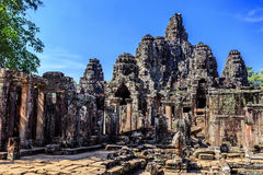 Bayon temple in Angkor Thom, Siem Reap, Cambodia Royalty Free Stock Photography