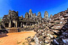 Bayon temple in Angkor Thom, Siem Reap, Cambodia Stock Photography