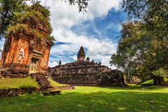 Ancient buddhist khmer temple Stock Image