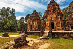 Ancient buddhist khmer temple Stock Images