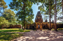 Ancient buddhist khmer temple Royalty Free Stock Photography