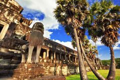 Ancient buddhist khmer temple in Angkor Wat Stock Images