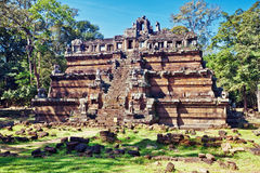 Ancient buddhist khmer temple in Angkor Wat Royalty Free Stock Image