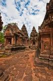 Ancient buddhist khmer temple Stock Photo