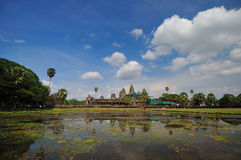 Ancient buddhist khmer temple in Angkor Wat, Cambodia. Royalty Free Stock Images