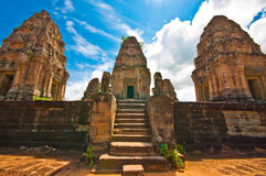 Ancient buddhist khmer temple Royalty Free Stock Photos