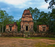 Ancient buddhist khmer temple in Angkor Wat Royalty Free Stock Photos