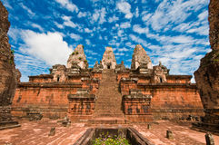 Ancient buddhist khmer temple Royalty Free Stock Photo