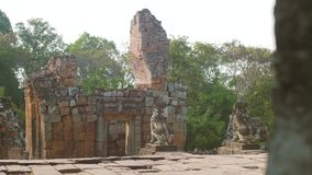 Pre Rup Temple. Ancient buddhist khmer temple in Angkor Wat, Cambodia. Pre Rup Prasat stock footage