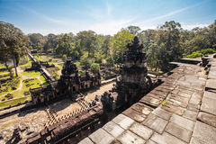 Ancient buddhist khmer temple in Angkor Wat comple Royalty Free Stock Photos