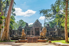 Ancient buddhist khmer temple in Angkor Wat comple Royalty Free Stock Photography