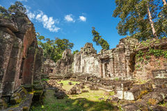 Ancient buddhist khmer temple in Angkor Wat comple Stock Image