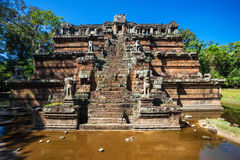 Ancient buddhist khmer temple in Angkor Wat complex Stock Image