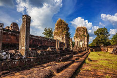 Ancient buddhist khmer temple in Angkor Wat complex Royalty Free Stock Image