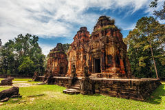 Ancient buddhist khmer temple in Angkor Wat complex Stock Images