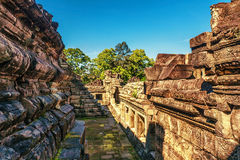 Ancient buddhist khmer temple in Angkor Wat complex Royalty Free Stock Photography
