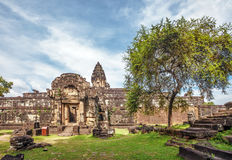 Ancient buddhist khmer temple in Angkor Wat complex Royalty Free Stock Images