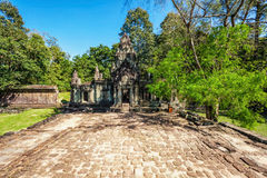 Ancient buddhist khmer temple in Angkor Wat complex Royalty Free Stock Photo