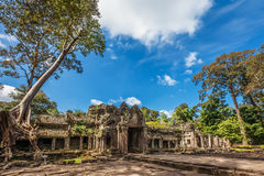 Ancient buddhist khmer temple in Angkor Wat complex Stock Photography