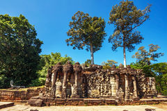 Ancient buddhist khmer temple in Angkor Wat complex Stock Photos