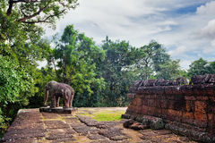 Ancient buddhist khmer temple in Angkor Wat complex Royalty Free Stock Photos