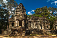Ancient buddhist khmer temple in Angkor Wat complex, Cambodia. Ancient buddhist khmer temple in Angkor Wat complex Cambodia Royalty Free Stock Photo