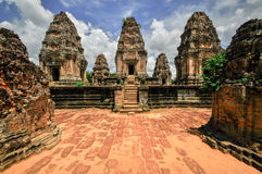 Ancient buddhist khmer temple in Angkor Wat complex, Siem Reap C Royalty Free Stock Photos