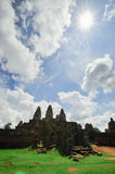 Ancient buddhist khmer temple in Angkor Wat complex, Siem Reap C Royalty Free Stock Photo