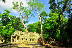 Ancient buddhist khmer temple in Angkor Wat complex, Siem Reap C Stock Photo
