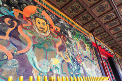 Ancient buddhist mural Stock Photography