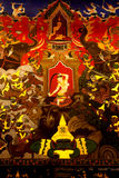 Ancient Buddhist mural in the Church of Wat Phanan Choeng. Stock Photography