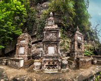 Ancient buddhist pagoda Bich Dong. Ninh Binh, Vietnam Royalty Free Stock Photos