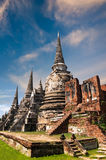 Ancient Buddhist pagoda ruins. Ayutthaya, Thailand Stock Photos