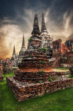 Ancient Buddhist pagoda ruins. Ayutthaya, Thailand Stock Photo