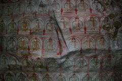 Ancient buddhist paintings Royalty Free Stock Images