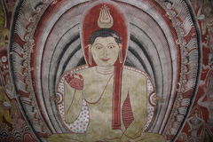 Ancient buddhist paintings Stock Photo