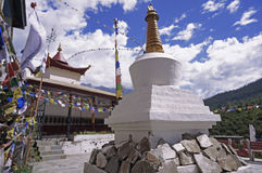 Ancient Buddhist Stupa in the High-Altitude Mountain Region Royalty Free Stock Images